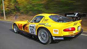 Side Back Pose Of Zakspeed Dodge Viper In Yellow